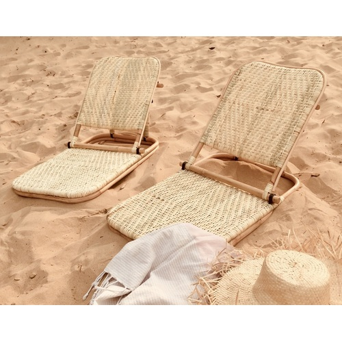 Beach Lounger - Natural (Closed Weave)